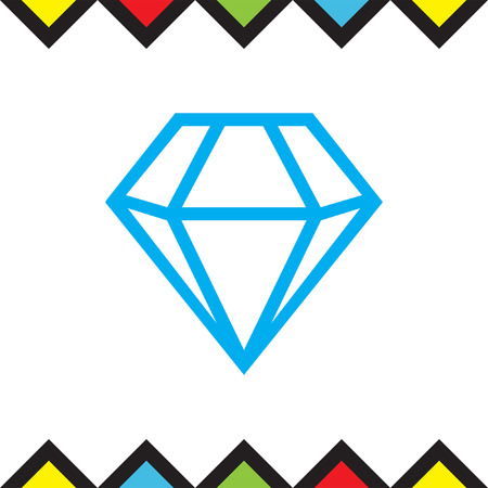 is expensive: Diamond vector icon. Expensive jewelry symbol. Luxury symbol. Illustration