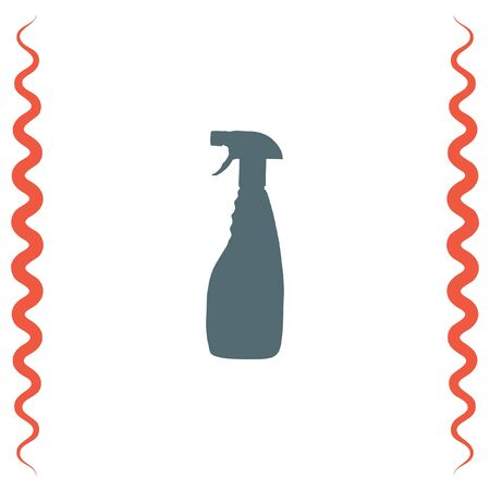 Household cleaning bottle vector icon. Disinfection spray sign. Liquid detergent symbol
