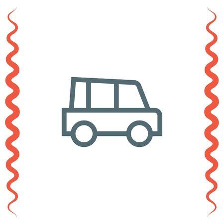 symbol traffic: Car line vector icon. Automobile transport sign. Traffic symbol. Illustration