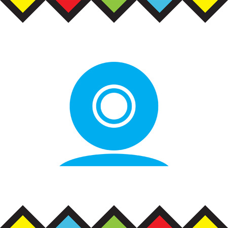 cam: Web cam vector icon. Conference camera sign. Security cam symbol Illustration