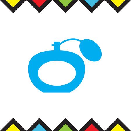 scent: Perfume vector icon. Fragrance sign. Cologne glass symbol Illustration