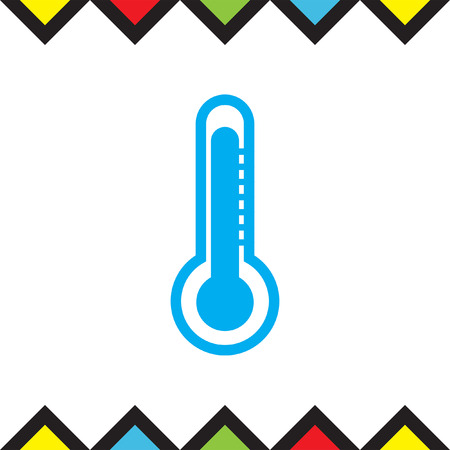 celsius: Thermometer vector icon. Temperature measurement sign. Celsius and fahrenheit symbol Illustration