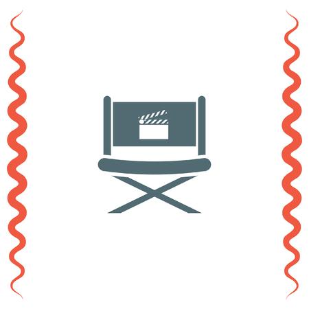 director: Cinema Director Chair vector icon. Movie director seat. Video symbol. Illustration