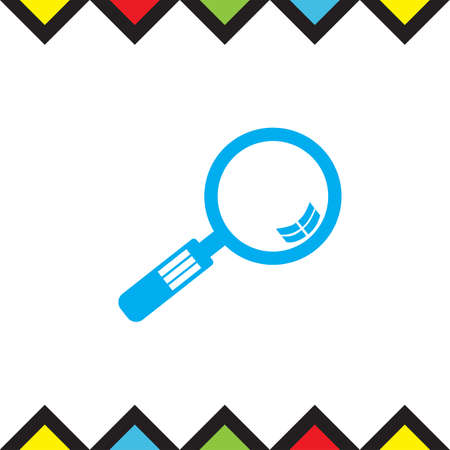 Magnifying glass vector icon. Search sign. Zoom symbol. Find pictograph Illustration