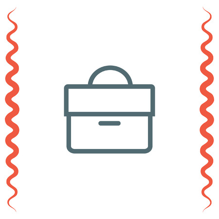 diplomat: Briefcase sign line vector icon. Businessman case line icon. Diplomat sign. Hand baggage symbol
