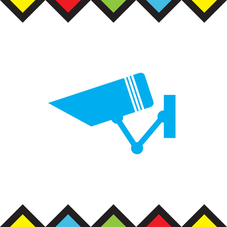 Security camera sign vector icon. Video monitoring icon. Camera cctv sign. Surveillance symbol.
