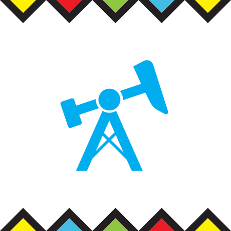 oil and gas industry: Oil pump jack icon. Fuel extraction rig sign. Gas industry symbol Illustration