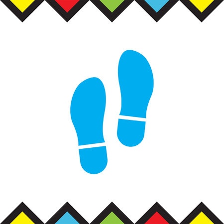 Footprint vector icon. Trail sign.