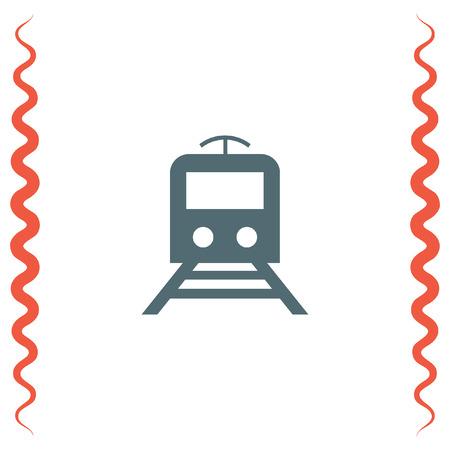 railway transportation: Subway metro vector icon. Train sign. Public railway transportation symbol