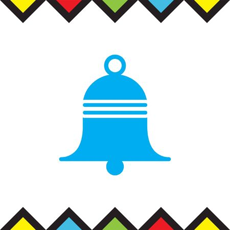 hand bell: Bell sign vector icon. Sound sign. Alarm hand bell symbol.