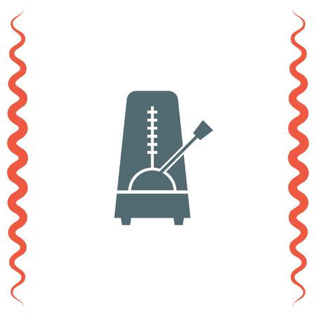 Metronome Vector Icon. Rhythm Machine Sign. Tempo Meter Symbol ...