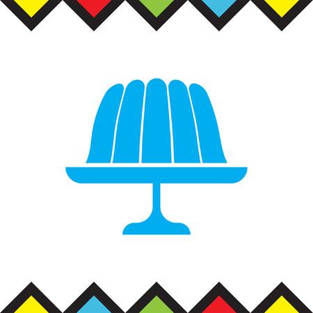 gelatina: jalea budín de iconos de vectores. signo de gelatina. Jalea dulce símbolo de postre pastel