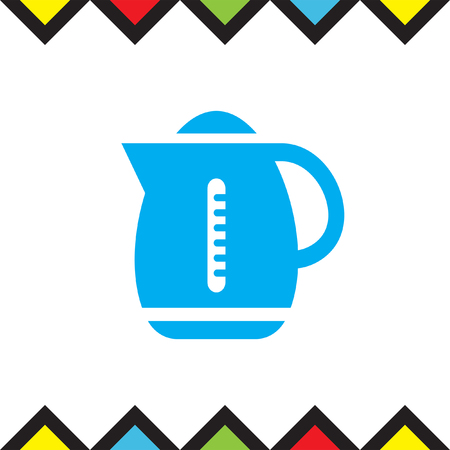 Water boiler vector icon. Kettle sign. Hot beverage symbol