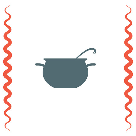 Cooking pot sign vector icon. Kitchen equipment sign. Restaurant symbol
