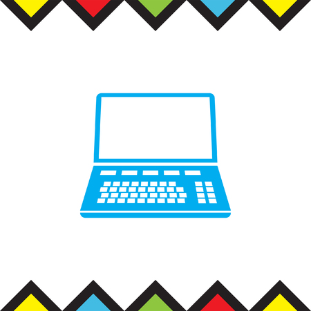Lap top vector icon. Computer sign. Personal computer symbol Illustration