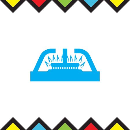 stove: Gas stove vector icon. Stove sign. Cooker symbol