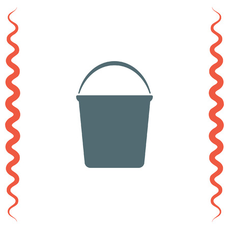 bucketful: Water Bucket vector icon. Wash equipment sign. Household hygiene sign.