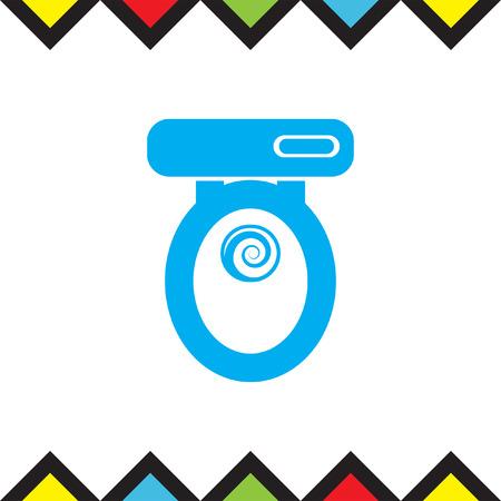 Toilet Seat Vector Icon. Bathroom Sign. Water Closet Symbol Vector