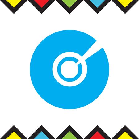 CD DVD vector icon. Multimedia symbol. Compact disk sign. Information media icon.