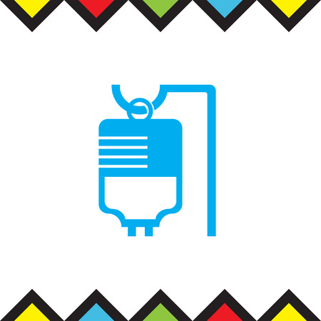 bag icon: IV bag medical vector icon. Infusion sign