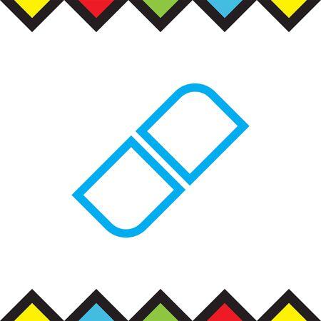 Eraser sign line vector icon. Correct symbol. Edit sign icon. Illustration