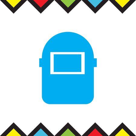 welder: Welding mask vector icon. Construction safety equipment sign. Welder symbol