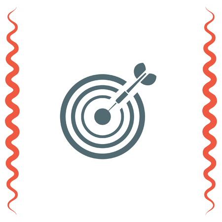 accuracy: Target with arrow vector icon. Marksman sign. Archery competition icon. Business goal symbol.