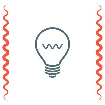 creativity symbol: Light bulb sign vector icon. Lamp icon. Idea and solution sign. Innovation and creativity symbol.