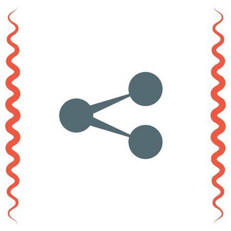 Share sign vector icon. Social media data transfer symbol.