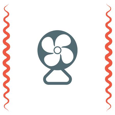 Electric Fan vector icon. Ventilator sign. Cooler symbol.