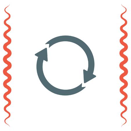 circulating: Circular arrow line icon. Rotating pointer. Circulating direction shower. Illustration