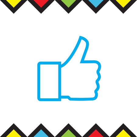 confirm: Thumb up vector icon. Wishing luck sign. Success symbol Illustration