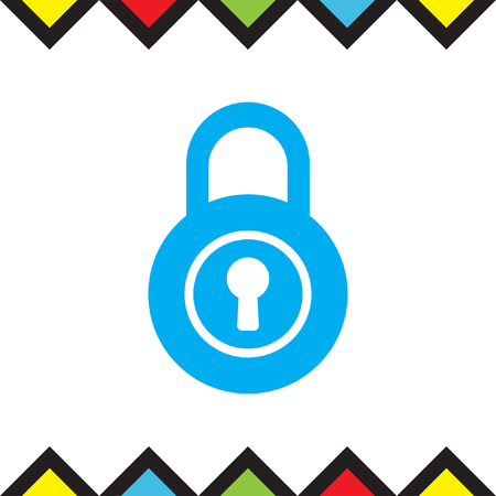 Lock vector icon. Padlock sign. Security symbol Illustration