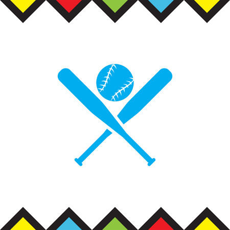 team game: Baseball vector icon. Sport competition sign. American team game symbol.