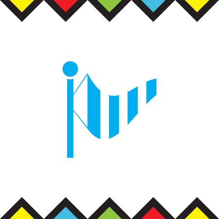 meteorology: Wind speed vector icon. Weather flag sign. Meteorology equipment symbol Illustration