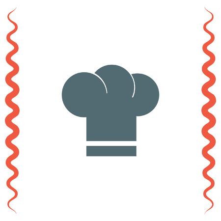head wear: Chef Hat vector icon. Cooking head wear sign. Restaurant symbol. Illustration