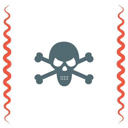 crossbones: Skull vector icon. Crossbones sign. Death symbol