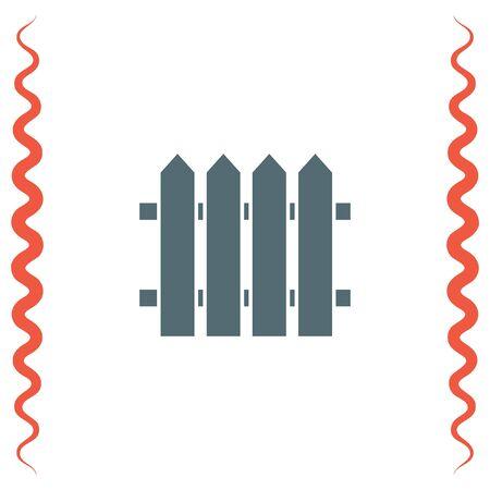 garden wall: Garden vector icon. Fence sign. Railroad symbol