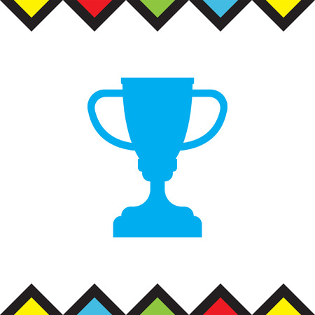 Champions trophy vector icon. Winner cup icon. First place award sign. Victory achievement symbol.