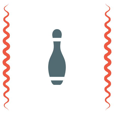 pattern: Bowling Pin vector icon. Leisure game sign. Recreation sport symbol.