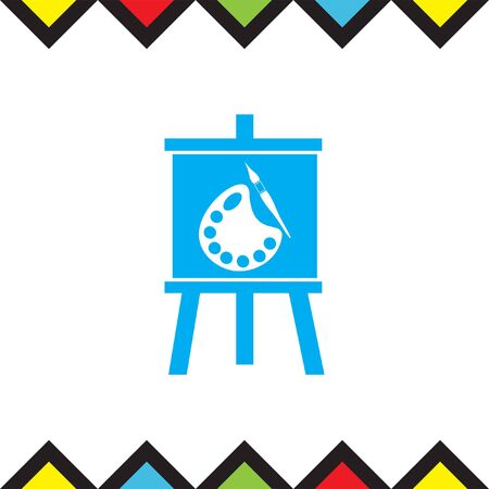 art painting: Painting vector icon. Art sign. Drawing symbol Illustration