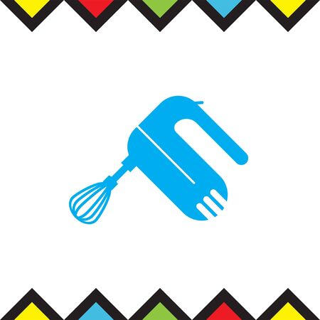 beater: Kitchen mixer vector icon. Beater sign. Kitchen equipment tool symbol