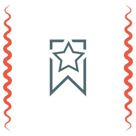 book mark: Bookmark sign line vector icon. Illustration