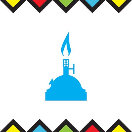 gas burner: Laboratory burner vector icon. Lab equipment sign. Chemistry tool symbol Illustration
