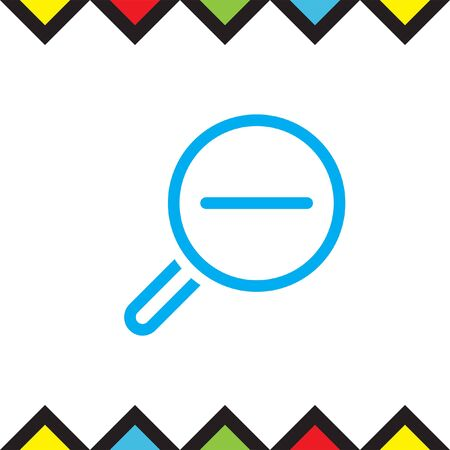 Zoom out sign line vector icon. Magnifying glass vector icon. Search icon.
