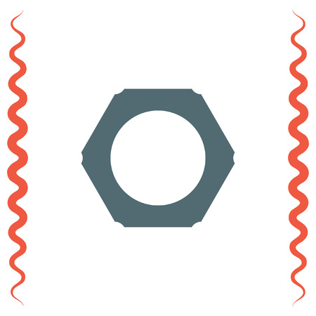 bolt head: Nut vector icon. Bolt sign. Screw symbol