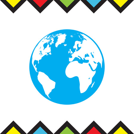 madre tierra: Earth Globe icon. Mother earth sign. Planet symbol