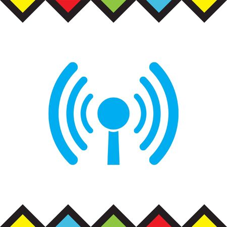 WI FI vector icon. Wireless internet sign. Wlan symbol
