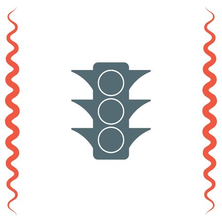 Semaphore vector icon. Traffic light sign. Stoplight symbol Illustration