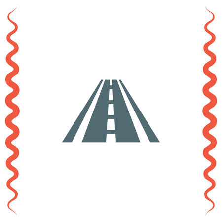 avenue: Road vector icon. Street sign. Highway symbol